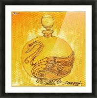 Bottled Gold Swan Picture Frame print