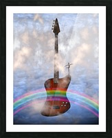 Bass Guitar with Dancer Picture Frame print