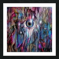 Eye in Colorful Space Picture Frame print
