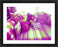 Sofa & Pillows -- Purple & Green Picture Frame print
