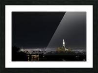 Winnipeg Skyline Storm Picture Frame print