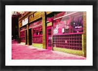 Atlanta Street Scene -- Red Picture Frame print