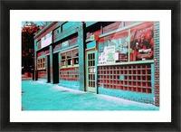 Atlanta Street Scene -- Turquoise Picture Frame print