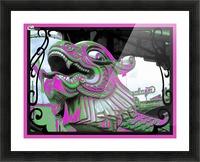 Carnival Creature in Purple & Green Picture Frame print