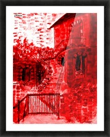 Let Them Eat Cake  -- Red Picture Frame print