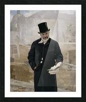 Portrait d Adolphe Alphand Picture Frame print