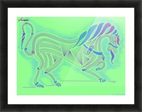 RARIN' TO GO--Blue on Green Picture Frame print