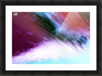 Water fall abstraction Picture Frame print