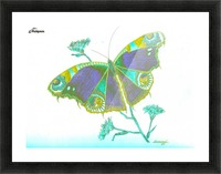 Butterfly Dressed for a Masquerade Ball III Picture Frame print