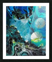 Galactic flowers Picture Frame print