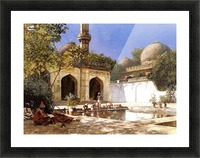 Figures in the Courtyard of a Mosque Picture Frame print