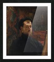 Catechisme dans une eglise Picture Frame print