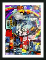Elements of Human Consciousness Picture Frame print