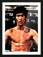 bruce lee1a Picture Frame print