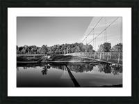 White Bridge Picture Frame print