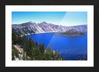 Crater Lake Oregon Picture Frame print