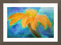Orange flower Picture Frame print
