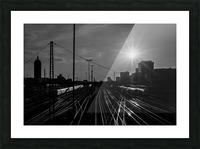 German Rails Picture Frame print