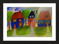Whimsical Houses Picture Frame print