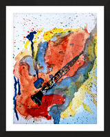 Clarinet watercolor Picture Frame print