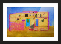 Adobe House New Mexico Picture Frame print