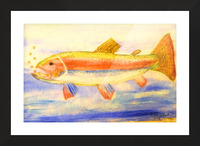 Rainbow Trout Picture Frame print