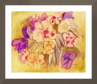 Floral pansies Picture Frame print