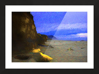 Yachats Beach Painting Picture Frame print