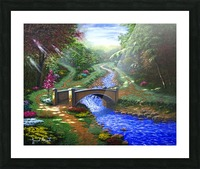 Forest Stream Picture Frame print
