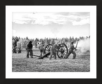 U. S. Civil War Re-enactment Picture Frame print