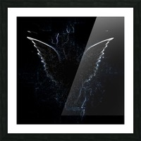 Outline of Winged Creature Picture Frame print