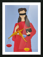 three dimensional justice Picture Frame print