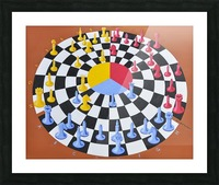 Chess-3-bounce Picture Frame print