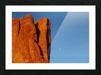 Red Rock and the Moon-BDR4129 Picture Frame print
