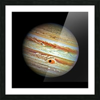Jupiter with Ganymede Outer Space Image Picture Frame print