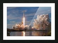 Falcon Heavy Demo Mission 020118 Picture Frame print