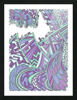 Wandering Abstract Line Art 01: Purple Picture Frame print