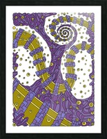 Wandering Abstract Line Art 02: Purple Picture Frame print