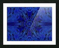 Blue Rose Picture Frame print