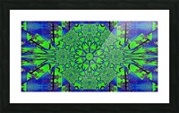 Dahlia in Green Picture Frame print