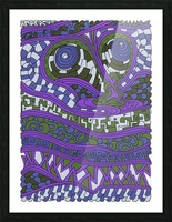 Wandering Abstract Line Art 03: Purple Picture Frame print
