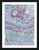 Wandering Abstract Line Art 03: Pink Picture Frame print