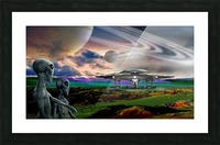 Explorers from Earth Picture Frame print