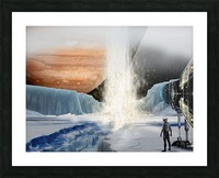 Geyser on Europa Picture Frame print