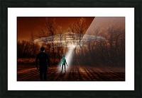 Dark Encounter Picture Frame print