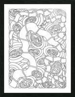 Wandering Abstract Line Art 04: Black & White Picture Frame print