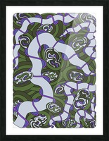 Wandering Abstract Line Art 04: Green Picture Frame print