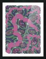 Wandering Abstract Line Art 04: Pink Picture Frame print