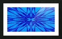 A Blue Wildflower 4 Picture Frame print