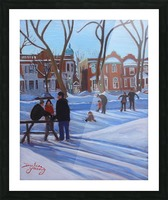 Learning to Skate at Outremont Park Picture Frame print